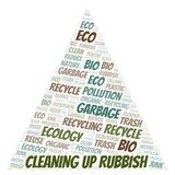 Cleaning Up Rubbish word cloud royalty free illustration