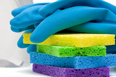 Cleaning utensils Royalty Free Stock Photo