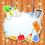 Cleaning, vector background with copy space Royalty Free Stock Image