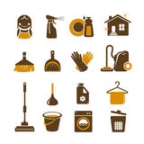 Cleaning vector icons Royalty Free Stock Photos