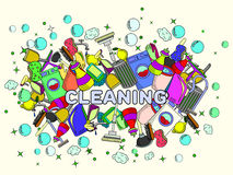Cleaning vector illustration Royalty Free Stock Image