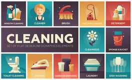 Free Cleaning - Vector Modern Flat Design Icons Set Stock Image - 97273471
