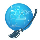 Cleaning vector symbol Royalty Free Stock Photo