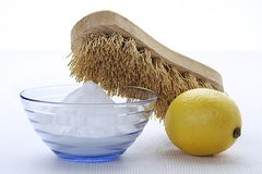 Cleaning virtues of bicarbonate Royalty Free Stock Image