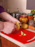 cleaning warzywa Obrazy Stock