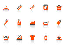 Cleaning and washing icons Stock Photo