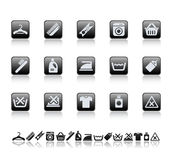 Cleaning and washing icons Stock Images