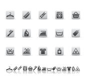 Cleaning and washing icons Stock Photography