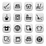 Cleaning and washing icons set Royalty Free Stock Images