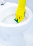 Cleaning a WC Royalty Free Stock Photo