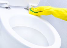 Cleaning a WC Royalty Free Stock Images
