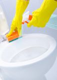 Cleaning a WC Stock Images