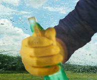 Cleaning window Stock Photography