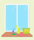 Cleaning window Stock Images