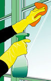 Cleaning the windows Royalty Free Stock Images