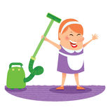 Cleaning woman Royalty Free Stock Image