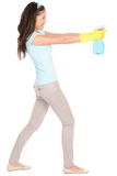 Cleaning woman fun isolated Royalty Free Stock Photos