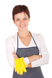 Cleaning woman portrait Royalty Free Stock Images