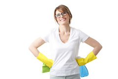 Cleaning woman Stock Photo