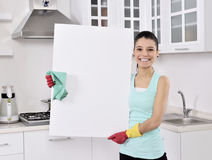 Cleaning woman sign Royalty Free Stock Image