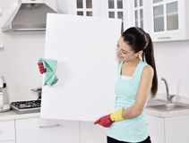 Cleaning woman sign Stock Image
