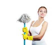 Cleaning women Stock Photo