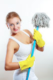 Cleaning women Stock Images