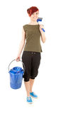 Cleaning worker woman Stock Images