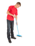 Cleaning young man Stock Images