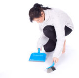 Cleaning young woman Stock Image