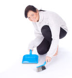 Cleaning young woman Stock Photos