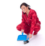 Cleaning young woman Royalty Free Stock Photos