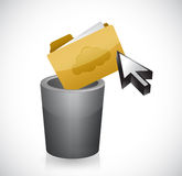 Cleaning your files concept. illustration. Design graphic Royalty Free Stock Photography