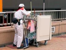 cleaningarbetare royaltyfria foton