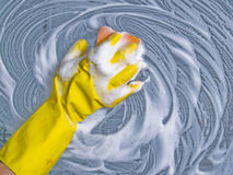 cleaningfönster Royaltyfri Fotografi
