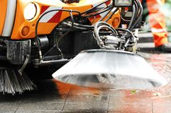 cleaninggata Arkivfoto