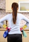 cleaninghuskvinnor Royaltyfri Fotografi