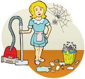 Cleaningkvinna Fotografering för Bildbyråer
