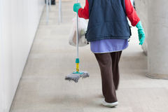 Cleaninglady Arkivfoto
