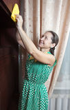 cleaningmöblemangkvinna Royaltyfri Foto