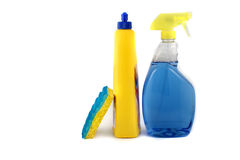 cleaningprodukter arkivbild