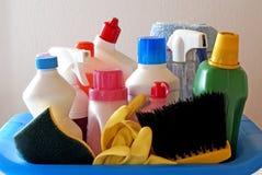 cleaningprodukter Fotografering för Bildbyråer