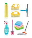 cleaningprodukter royaltyfria bilder
