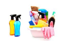cleaningprodukter arkivfoto