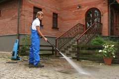 cleaningprofessionell Royaltyfria Foton