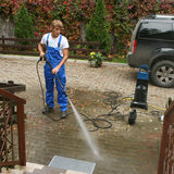 cleaningprofessionell arkivfoto
