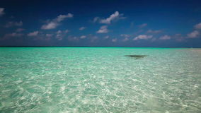 Cleanlagoon on a tropical island with waves stock footage