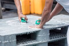 Cleanliness of plastic pallet