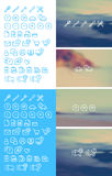 Cleanse Icons Set on blurred background Royalty Free Stock Image