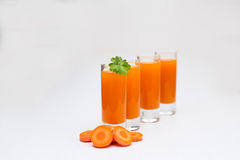 Cleansing of the body, carrot juice Stock Image